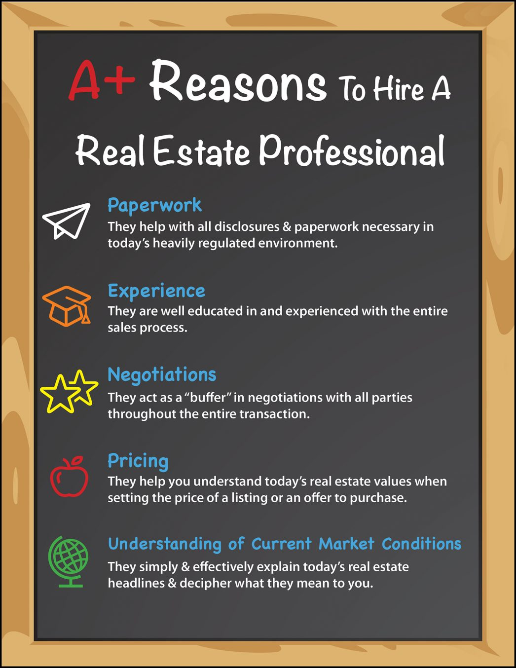 A+ Reasons to Hire a Real Estate Pro [INFOGRAPHIC] | MyKCM