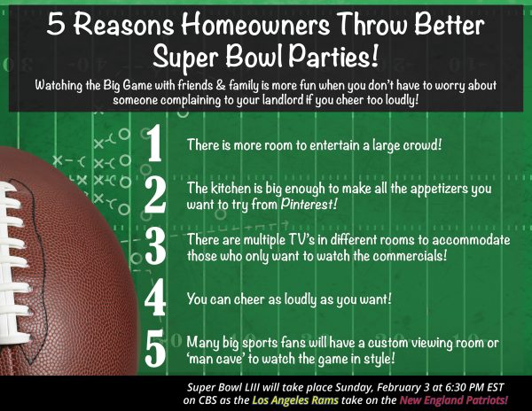 5 Reasons Homeowners Throw the Best Super Bowl Parties! [INFOGRAPHIC] | MyKCM