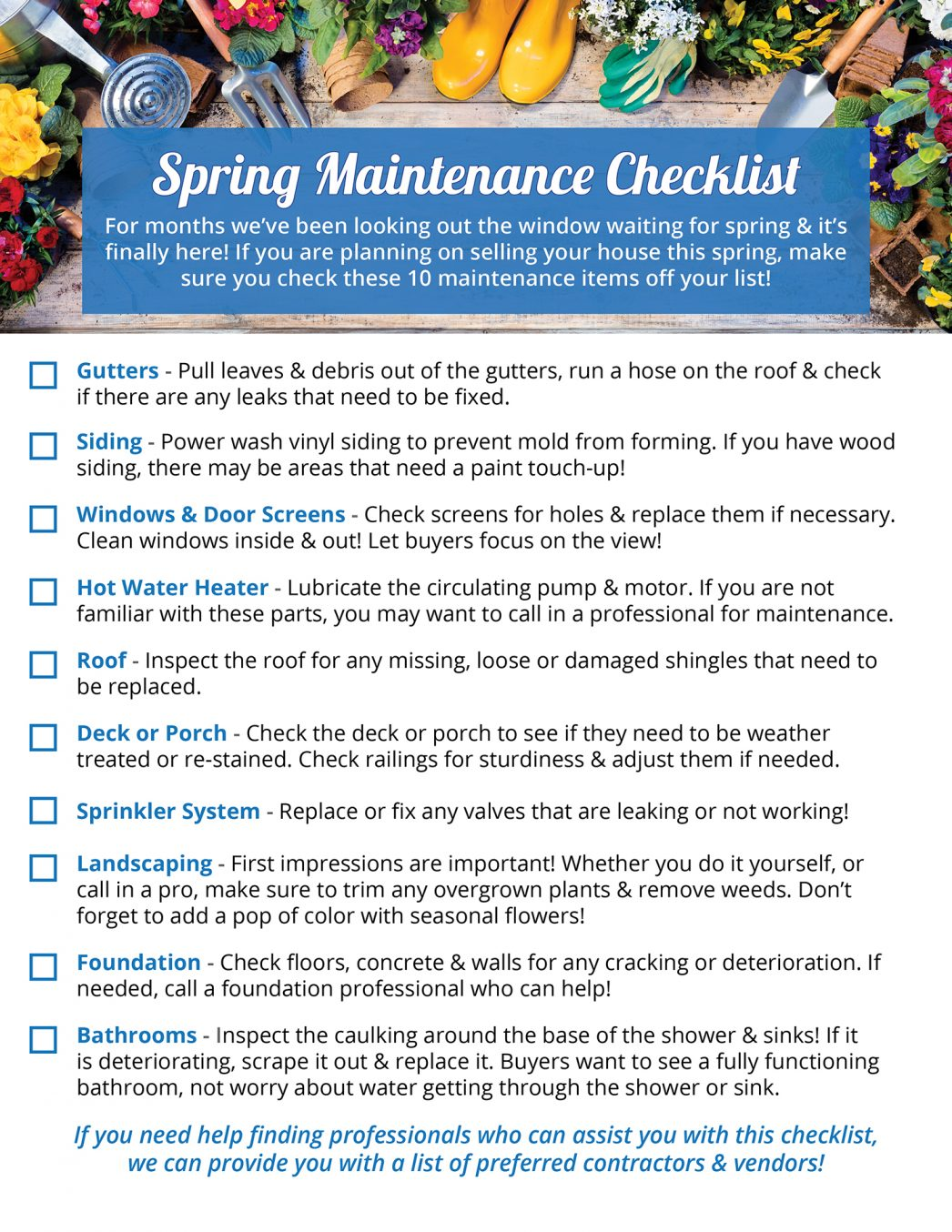 Your Homes Spring Maintenance Checklist [INFOGRAPHIC] | MyKCM