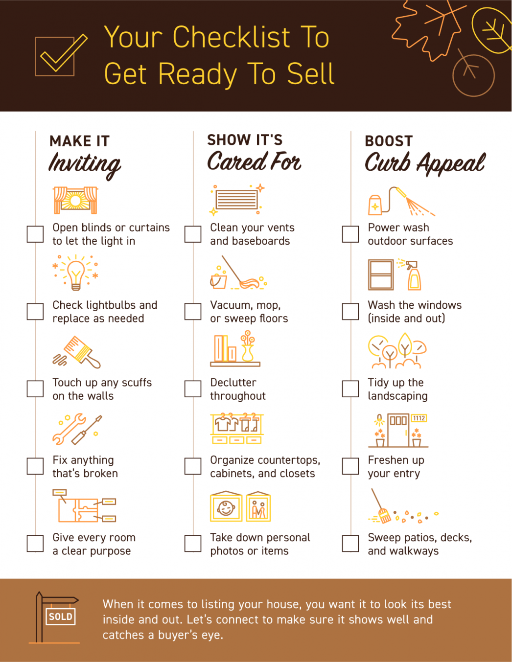 Your Checklist To Get Ready To Sell [INFOGRAPHIC] | MyKCM